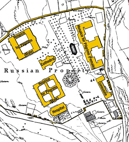 Russian Compound - http://www.alma-mahler.at/archiv_jerusalem_engl/information/russian_pilgrims.html
