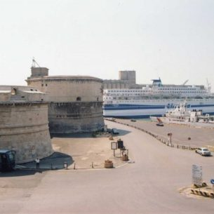 Civitavecchia fort and harbour today. - Public Domain