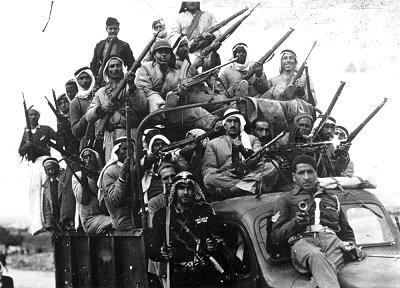 Arab volunteers fighting in Palestine in 1947