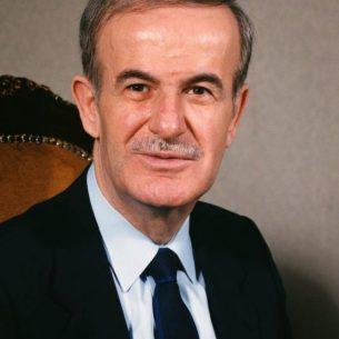 Syrian president Hafez al-Assad on a official portrait. - Public Domain