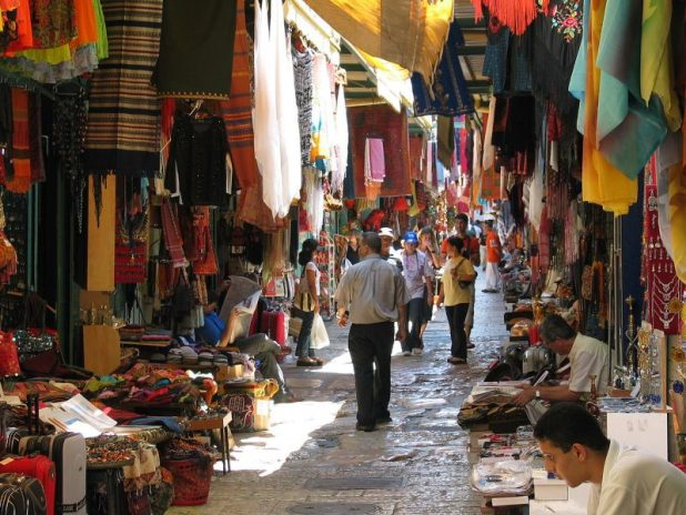 The Arab market in the Old City of Jerusalem, Photo: Ester Inbar