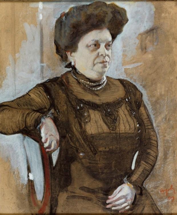 ולנטין סרוב, דיוקן אנה צטלין, 1909