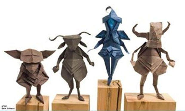invitation 1- paper creatures
