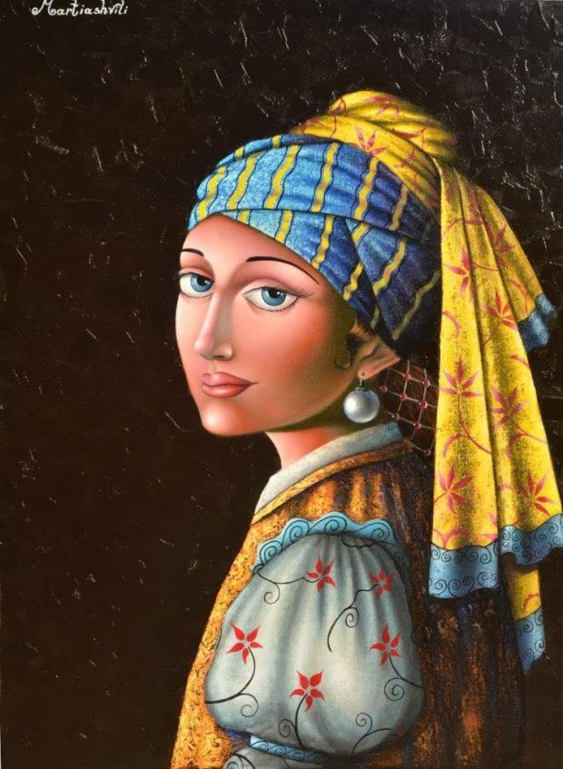 zurab-martiashvili_girl-with-earring_homage-to-vermeer_oil-on-canvas_90x70-cm