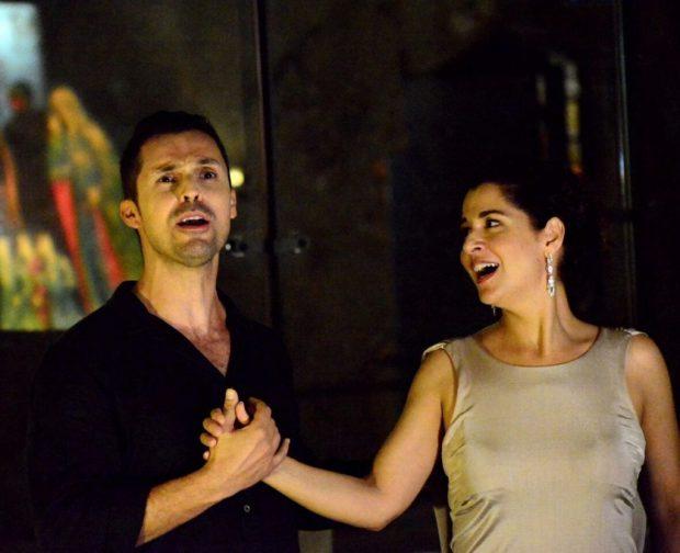 Янив Деор и Клер Магнаджи, исполнившие дуэт Юлия Цезаря и Клеопатры. Фото - Лена Запасская
