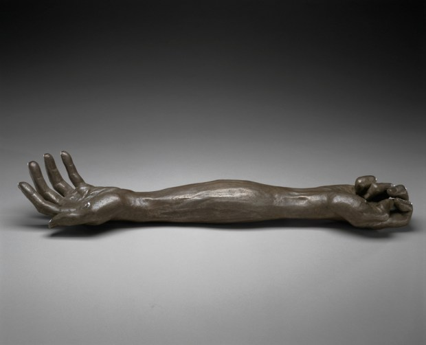 Louise Bourgeois GIVE OR TAKE, 2002 Bronze, silver nitrate patina 8.9 x 58.4 x 12.7 cm. Collection The Easton Foundation Photo: Christopher Burke, (c) The Easton Foundation / Licensed by VAGA, NY