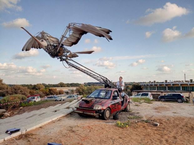 Механическая птица. Ярона Барели. Фото © Гай Барели. Предоставлено Meromi PR