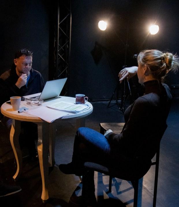 Михаил Теплицкий и Наталья Гантман на репетиции Варшавской мелодии - фото © Юлия Голанд