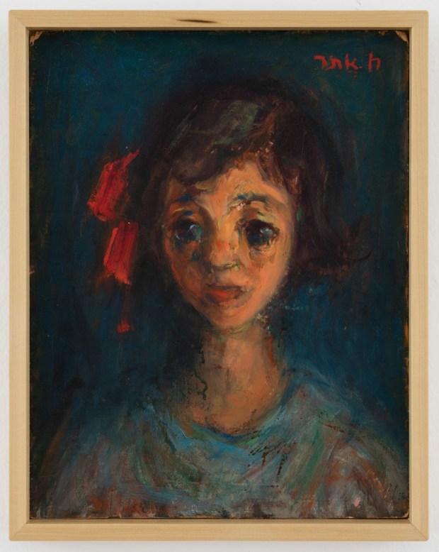 """Хаим Атар. Портрет девочки. 1950 г. Из коллекции музея """"Мишкан ле-Оманут"""" в кибуце Эйн-Харод."""