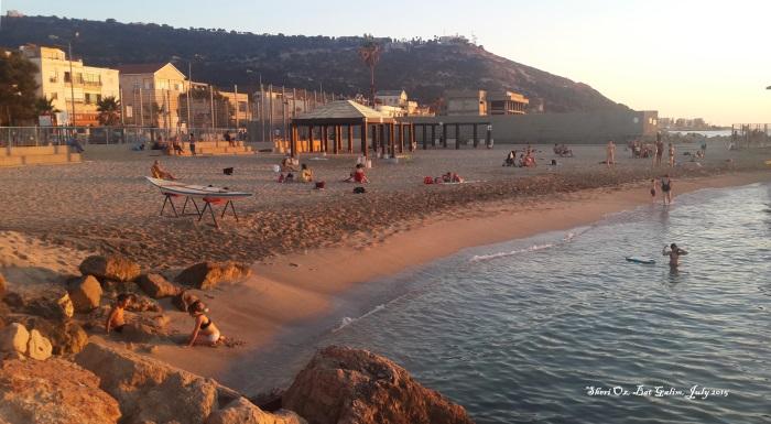 Afternoon on Bat Galim Beach