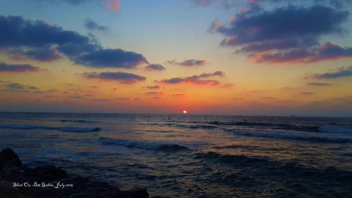Evening on Bat Galim Beach - Sunset