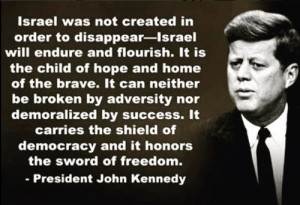 Kennedy talking about Israel's right to exist