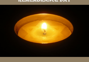 Holocaust Remembrance Day Candle