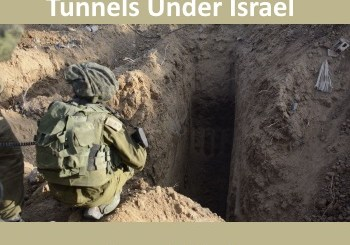 soldier next to terror tunnel - psychological terror tunnels