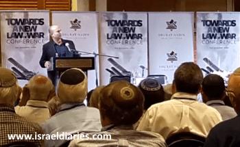 Naftali Bennett at Shurat HaDin conference