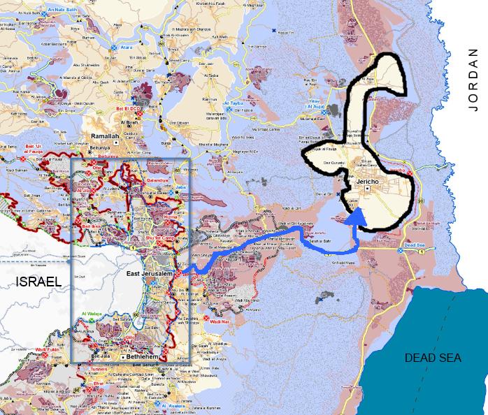 Map of Jericho region