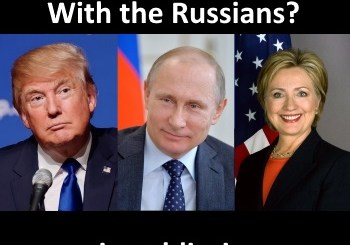 Donald Trump, Hillary Clinton, Vladamir Putin