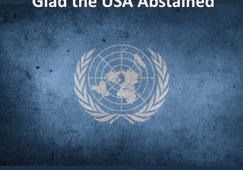 UNSC Resolution 2334 - USA abstained