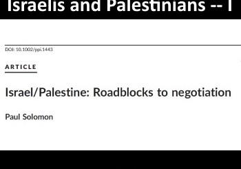 Group Psychoanalysis for Israeli Jews and Palestinian Arabs
