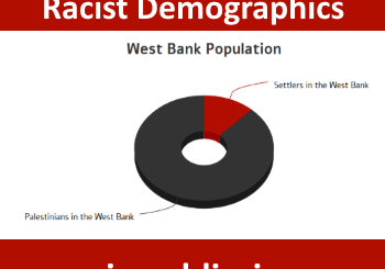 Peace Now and racist demographics - using a pie graph to dehumanize Jews