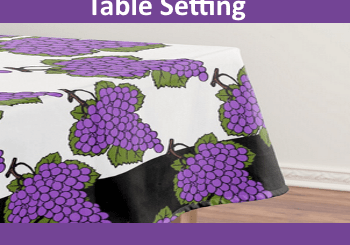 Tu Bishvat Seder Table Setting