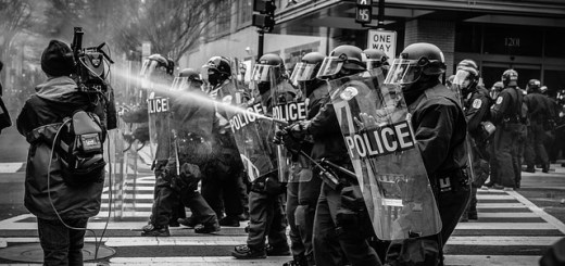 intersectionality: police suppression of protests in Ferguson and IDF suppression of Palestinian protests