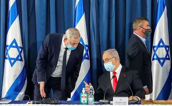 De droite à gauche: Ashkenazi, Netanyahu et Gantz // Photo d'archive: Mark Israel Salem