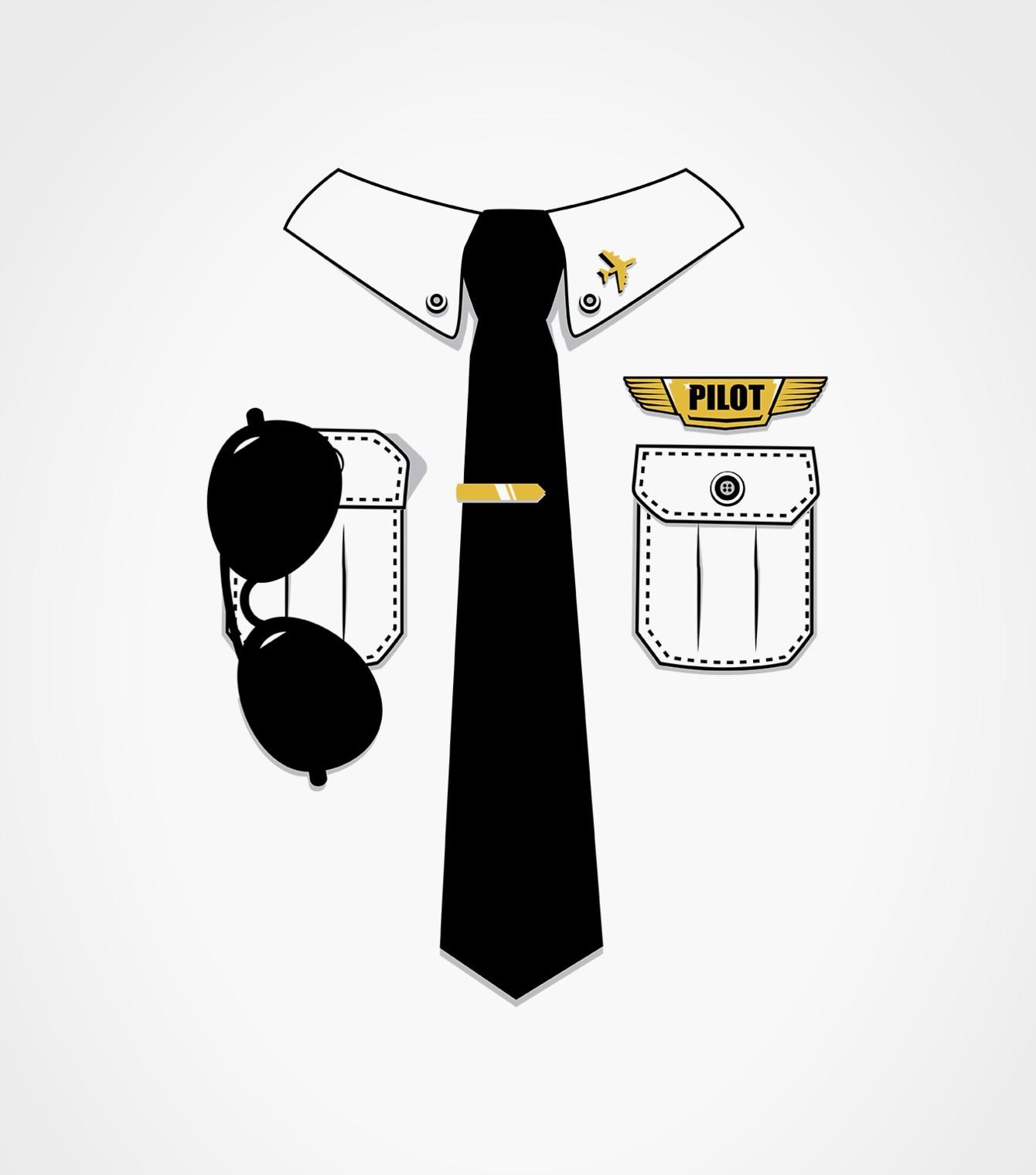 Pilot Uniform Easy Purim Costume