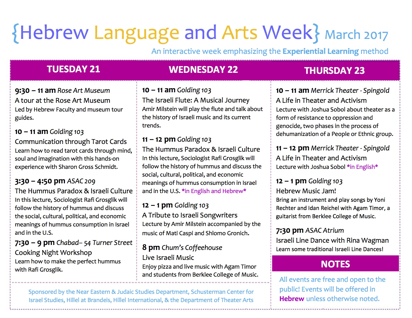 Hebrew Language And Arts Week