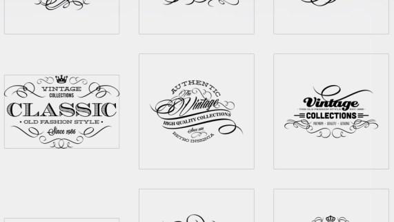 Etiquetas caligráficas