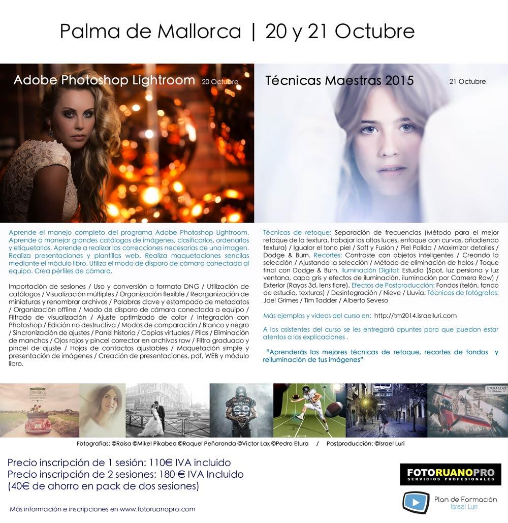 Lightroom y Técnicas Maestras Vol2 en Palma de Mallorca