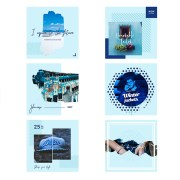 Plantillas Facebook Instagram: Cielo Azul