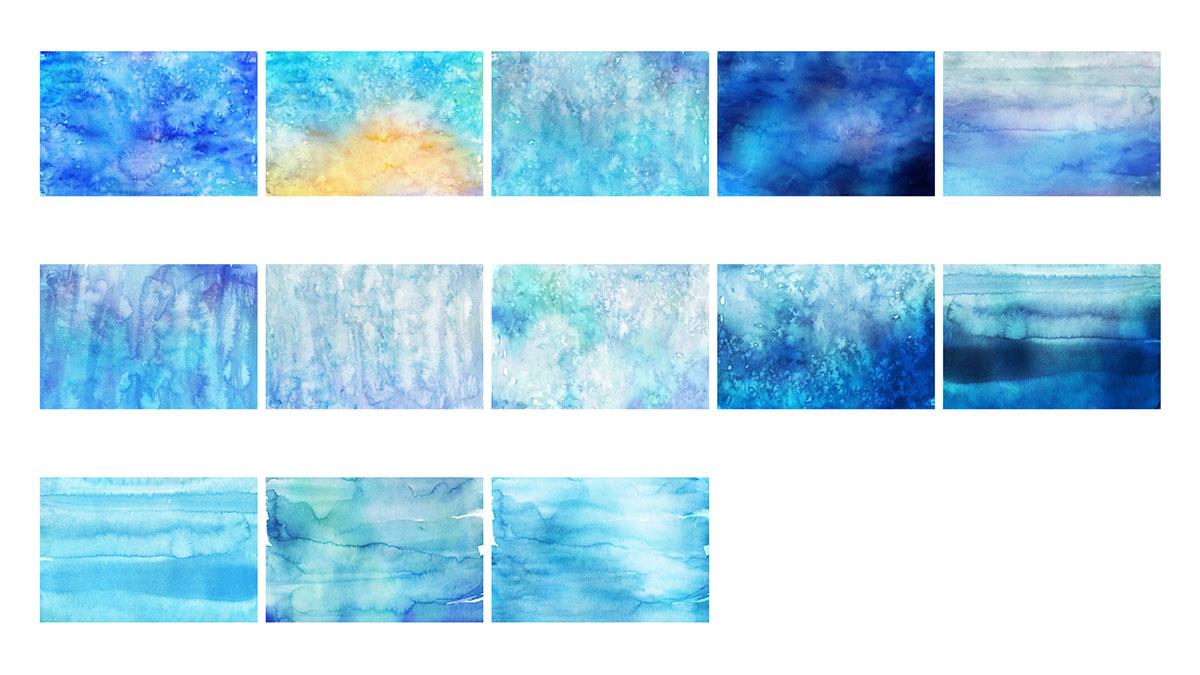 Texturas de Acuarela de Invierno