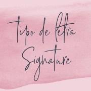 Tipo de letra Signature