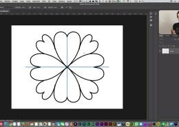 Simetría de pintura