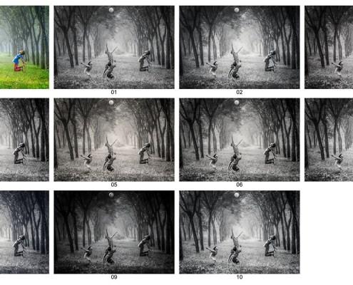 Acción Photoshop: 10 Blanco y Negro Profundo