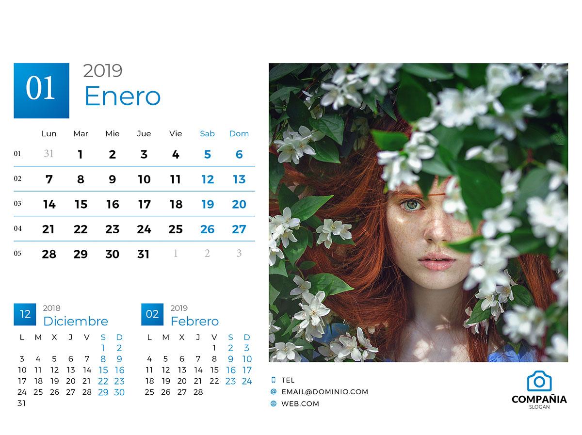 Calendario Indesign.Calendario 2019 Indesign Israel Luri Formacion