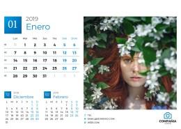 Calendario 2019 InDesign