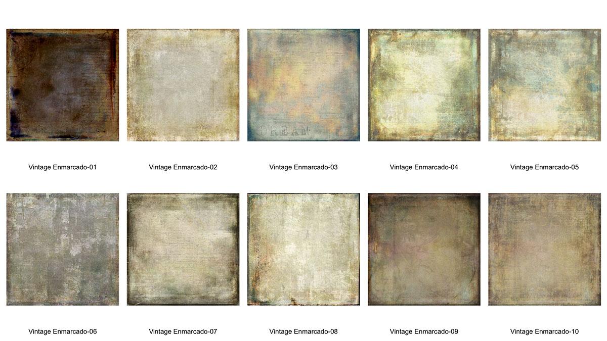 Textura Vintage Enmarcado