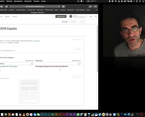 Mailchimp: Creación de una campaña