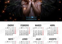 Calendario 2020 20x30 en PSD editable con comienzo de semana en lunes