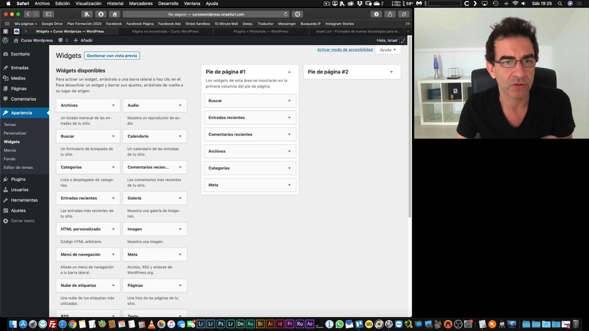 Estructura de Wordpress y configuración inicial