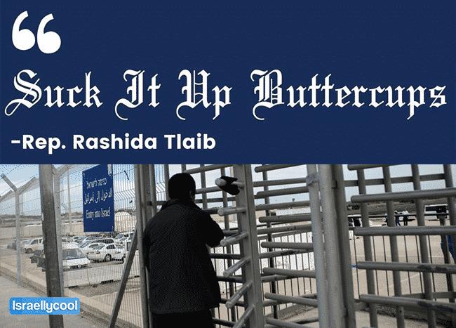Rashida Tlaib checkpoint poster