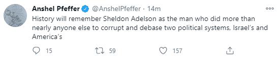 Anshel Pfeffer tweet