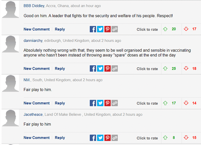 Daily Mail comments