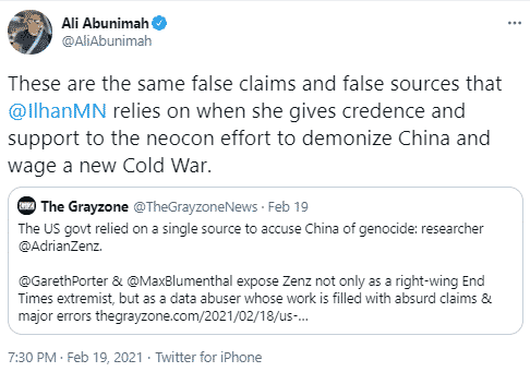 ali abunimah tweet China
