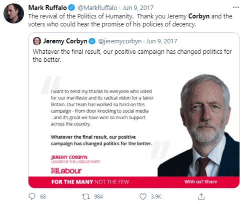 mark ruffalo tweet