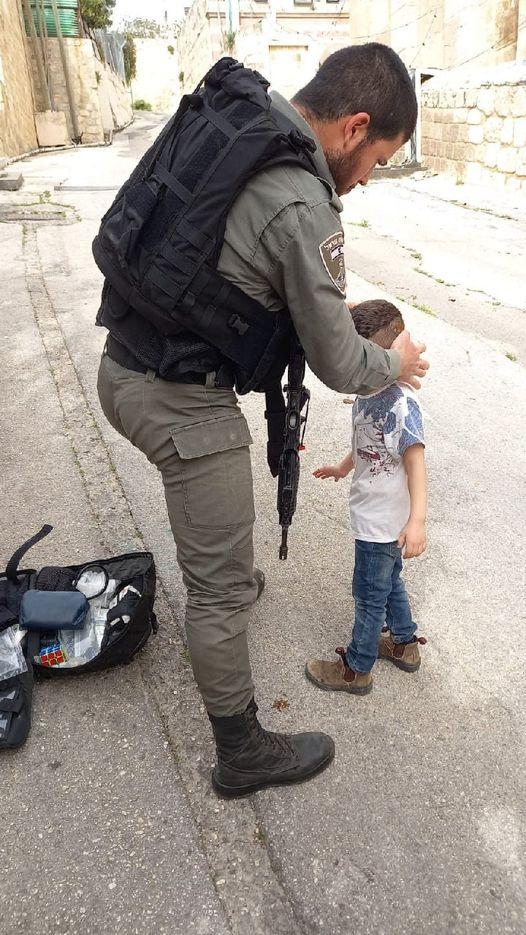 IDF soldier and boy