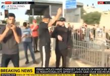 cheering palestinians