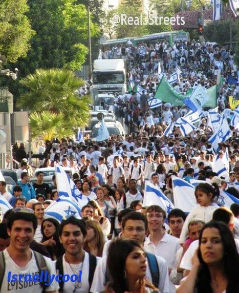 Dance of Flages on Jerusalem Day